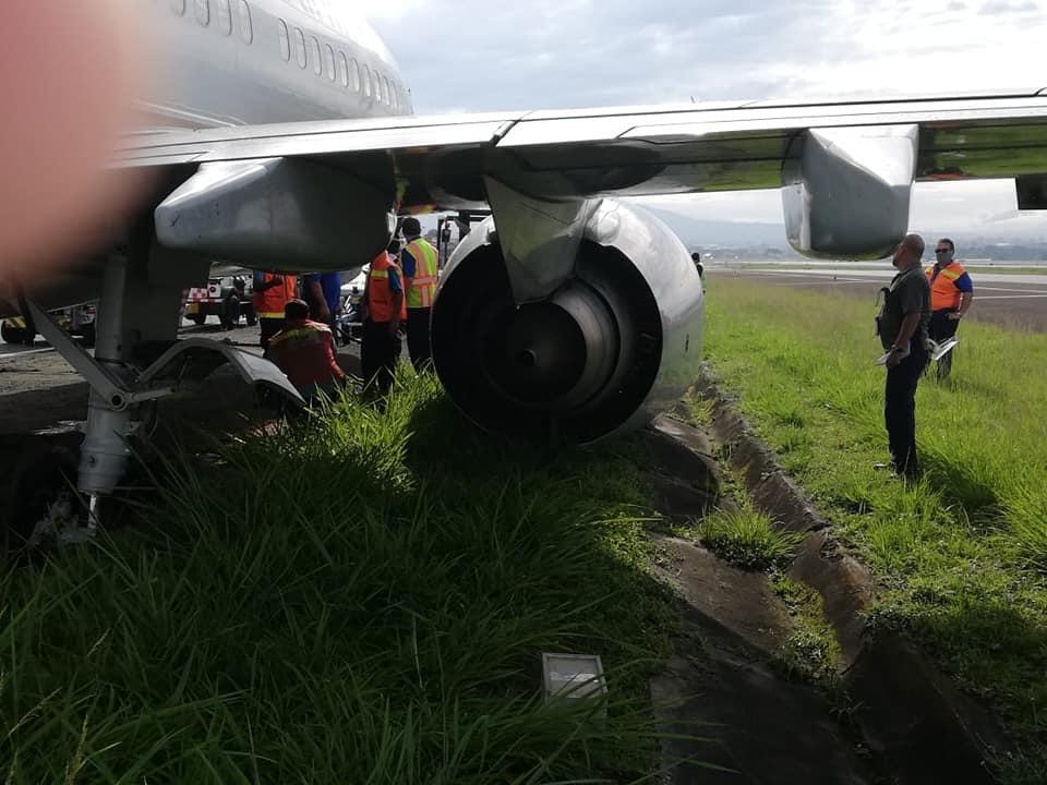 avión sufrir salida de pista en Costa Rica1