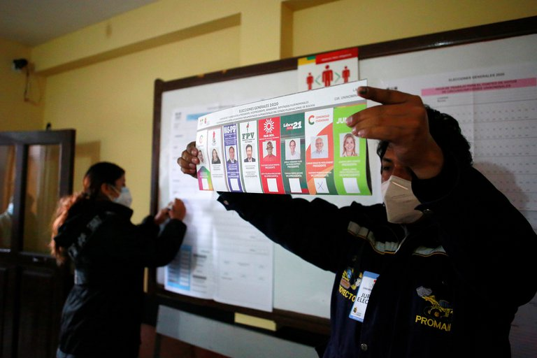 Elecciones en Bolivia con el recuento de los votos1
