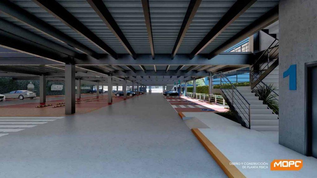 parqueos con capacidad de 8 mil espacios vehicular