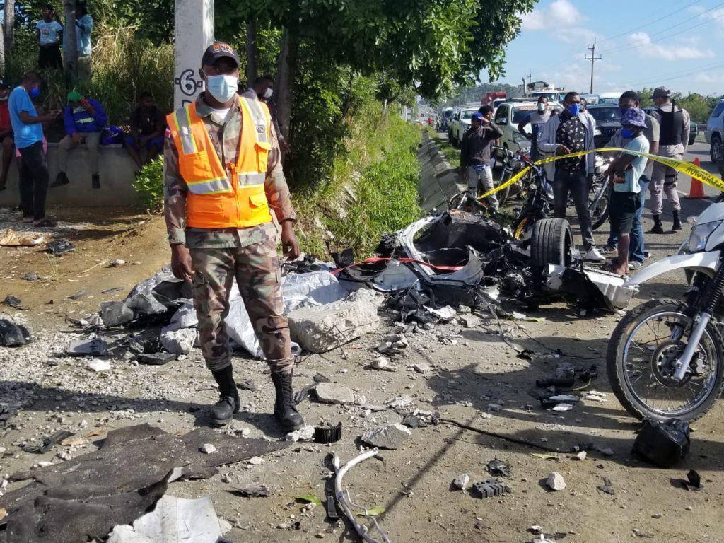 accidente en un McLaren en Santo Domingo 1