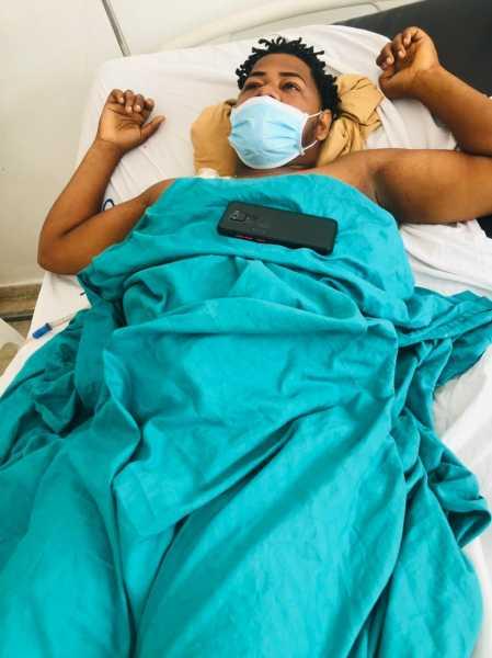 AndyDisla Hoguin herido en el hecho da su declaraciones en el hospital San Vicente de Paul