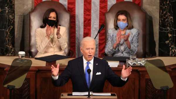 Joe Biden da su primer discurso ante el Congreso