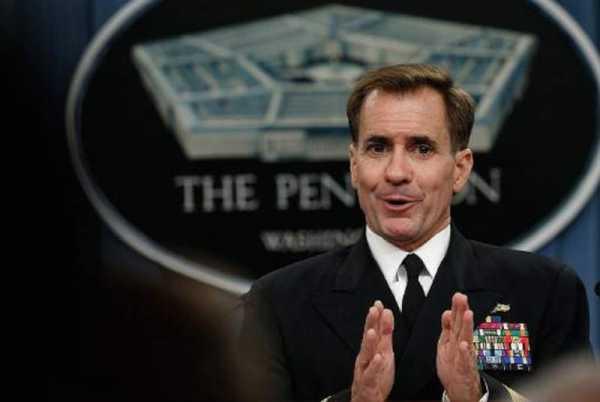 John Kirby portavoz del Pentagono el contraalmirante