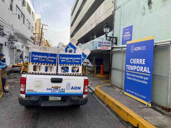 ADN cierra temporalmente parqueo de la Jose Reyes1